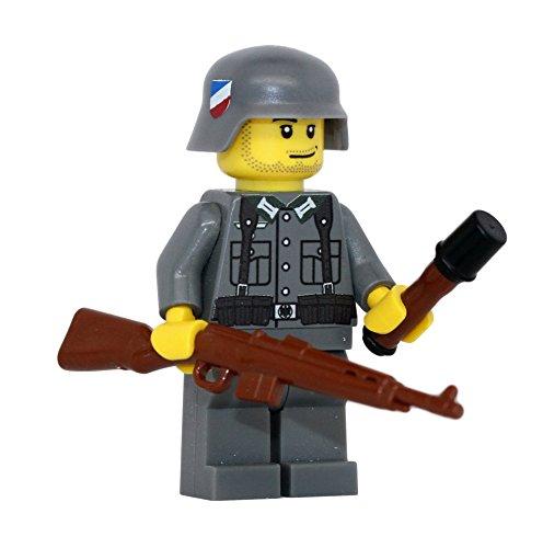 German WW2 G43 Rifle Soldier - Modern Brick Warfare Custom Minifigure
