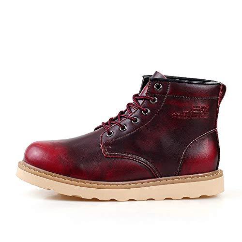 FHCGMX Winter Mode Vintage Martin Laarzen Mannelijke Schoenen Voor Mannen Volwassen Zakelijke Casual Wandelen Werk Schoeisel Rubber Niet Slip