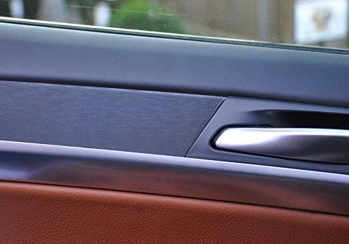 12 tlg. Alu gebürstet schwarz Look Zierleisten Interieurleisten Folien SET 100µm stark , Türleisten, Mittelkonsole, Aschenbecher passend für Ihr Fahrzeug