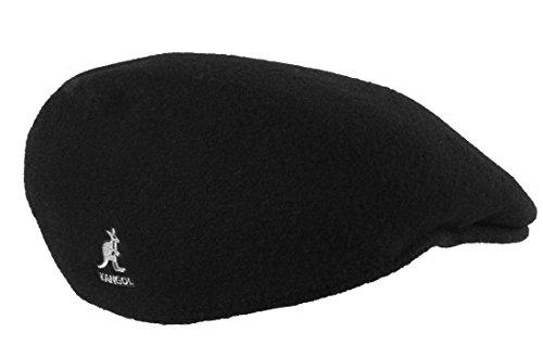 Bollman Hat Company Graue Flatcap 504 von Kangol der Young Fashion Line aus 100% reiner Schurwolle Schwarz M