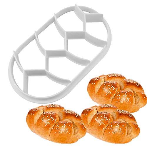 Broodjesstempel kunststof broodjesachterkant uitsteker deeg koekpers zelfgemaakt broodjes vormen stempel bakken geel brooddruk patroonstempel