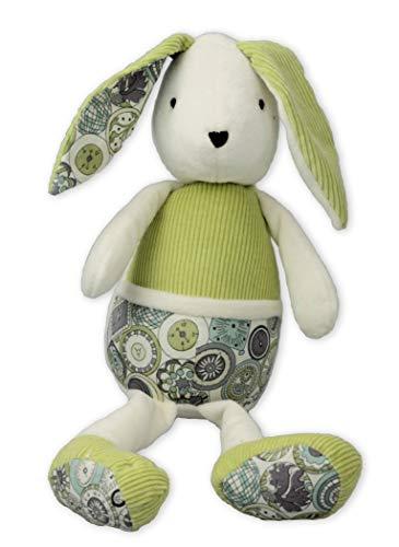 Inwolino 7844 - Kuscheltier Hase Schnuffel, grün/Creme, 28 cm