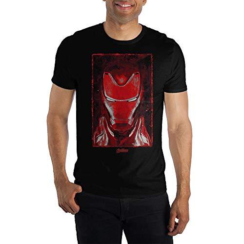 Short Sleeve Mens Iron Man Shirt Avengers Mens Clothing-X-Large