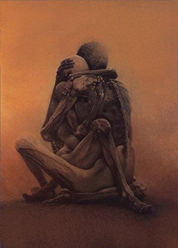 Poster, Motiv: Zdzislaw Beksinski, Futurismus, surrealistisch, Barock, Gothic, 250 g/m², glänzend, A3