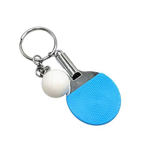 Asdf586io Cute and Charm Keychains, 2Pcs Key Holders Table Tennis Bat Pendant Keychain Mini Key Rings for Bag Wallet Decor, Gift Souvenir Prizes Gift - Blue