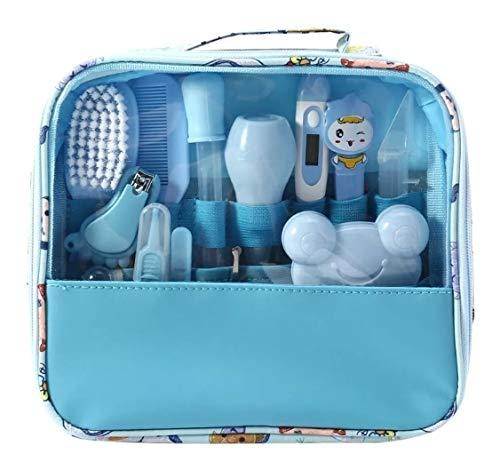 Kit Higiene Cuidados Saúde Bebê Recém Nascido 13 peças - Azul