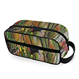 Beautifully Colorful Sunbirds in The Flowers Travel Kit with Zippers Toiletries Bag Carry-on Travel Accessories Travel Bags for Toiletries for Men and Women Travel Size Toiletries for Toiletries Acce