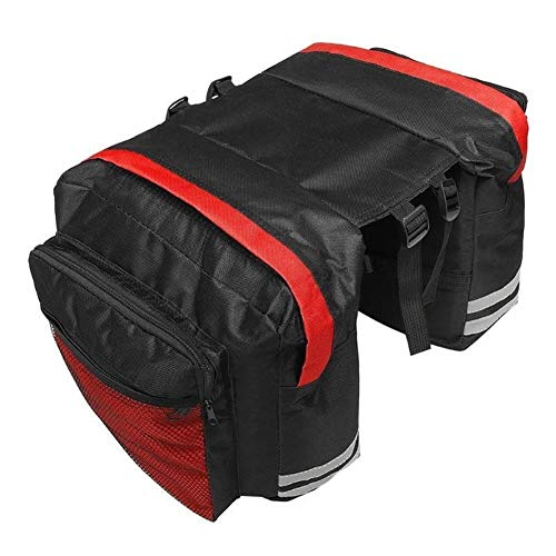 Z-Y Fietstas Waterbestendig berg MTB Mountain fietstas Bike Double Side bagagedrager Bag Tail Seat Trunk fietstassen Fietsen Accessoires Tassen for mannen vrouwen #z (Color : Type A Red)