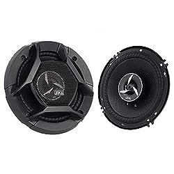 JXL 1690 High Performance 3 Way 6 Inch Car Speaker with Inbuilt PEI Tweeter and HOP Woofer 600W MAX Pair (Black),JXL,1690