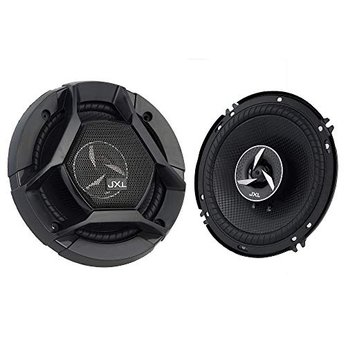 JXL 1690 High Performance 3 Way 6 Inch Coaxial Car Speaker with Inbuilt PEI Car Tweeter and HOP Woofer 600W MAX Pair (Black)