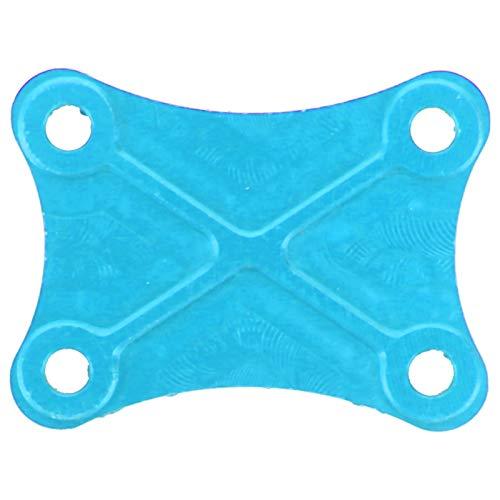 Dilwe Pieza de Repuesto de Placa de Montaje Fija Trasera RC a Escala 1/14 Adecuada para Modelo Wltoys 144001 RC(Azul)