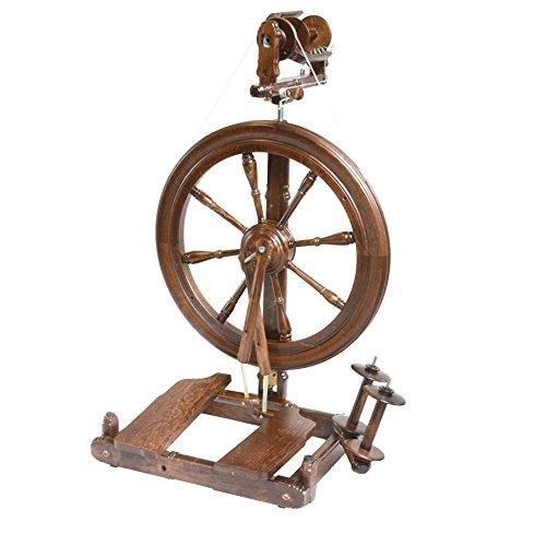 Kromski Sonata Reisespinnrad Spinnrad zum Spinnen von Wolle Spinnen Hobby (Walnuss)