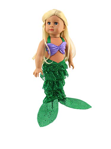 American Fashion World Mermaid Halloween Costume Shell Bikini Top and...