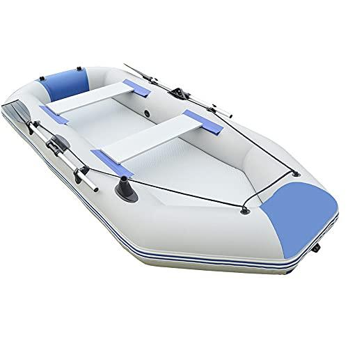 Kayak Inflable para Adultos Y Niños, Canoa De Aguas Bravas De Pesca De Doble Válvula, Deportes Marinos, Juego De Bote De Pesca Inflable De Goma para 1/2/3/4 Persona,3m