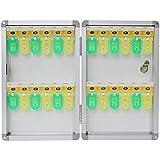 wellz キーボックス 24本収納 鍵 ボックス 収納 キー BOX 壁掛け 鍵付き 収納ボックス 24本 プレート付 右開き アルミ製 紛失防止 業務用