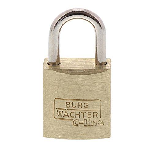 Burg-Wächter 4 Vorhangschlösser, 4 Schlüssel, Quadro C-Line 222 15 SB, Bügelstärke: 3 mm
