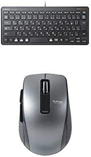 エレコム 有線超薄型ミニキーボード TK-FCP096BK & エレコム Bluetooth(R)4.0 BlueLED 5ボタンマウス M-BT20BBBK セット