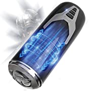 Electric Male Masturbator Cup, 8 Powerful Thrusting Rotating Modes Automatic Masturbator for Men Masturbation, Allovers Realistic Textured Vagina Pocket Pussy Adult Sex Toys with 3 Female Moans.