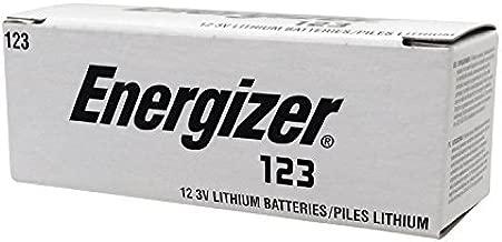Energizer EL 1230P12 Photo Lithium 123, 3V Battery, 12-Pack (Silver/Black)