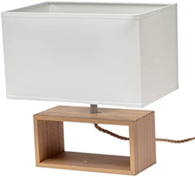 Gallis 0991104131Wood Rico lampada da tavolo legno 40W marrone 30x 20cm