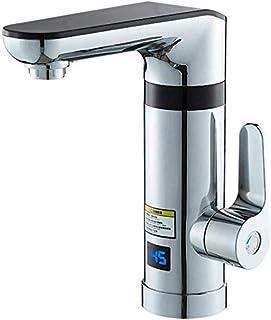 Grifo de agua caliente eléctrico Grifo eléctrico instantáneo Calefactor de cocina de calefacción rápida Cocina y baño Doble uso Nueva actualización Pantalla digital inteligente