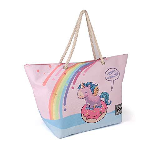 Oh My Pop! Oh My Pop! Believe-Sunny Strandtasche Bolsa de Tela y de Playa 60 Centimeters Multicolor (Multicolour)