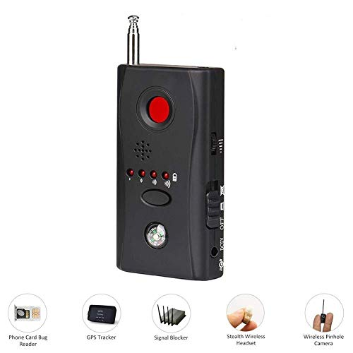 Detector de señal de RF inalámbrico antiespía - Detector de cámara oculta Alarma de señal inalámbrica Buscador de dispositivo de escucha GSM - Última actualización multifuncional