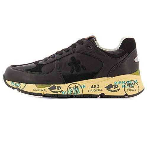 PREMIATA Sneakers Mase Nera in Pelle con Inserti in CAMOSCIO - 41