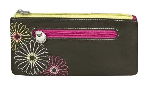 Travelon Safe Id Double Zip Clutch Wallet, Black, One Size