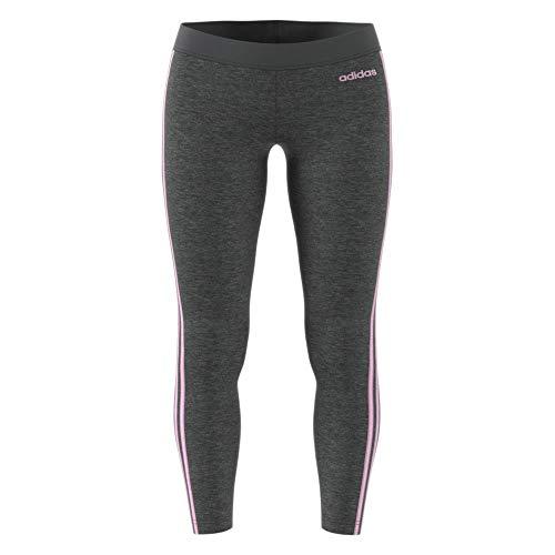 adidas Women Essentials 3-Stripes Tights - Dark Grey Heather/True Pink,...