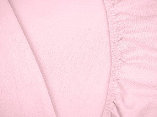 #11 npluseins Kinder-Spannbettlaken, Spannbetttuch, Bettlaken, 70×140 cm, Roze - 5