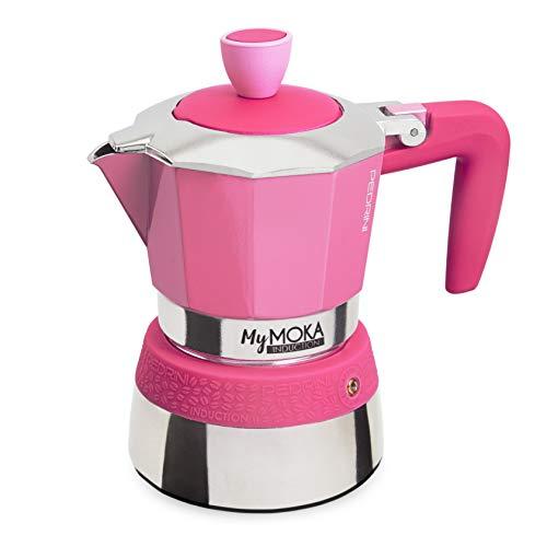 Pedrini MyMoka - Cafetera de inducción Inducción Mymoka 3 Tazze Berrylove