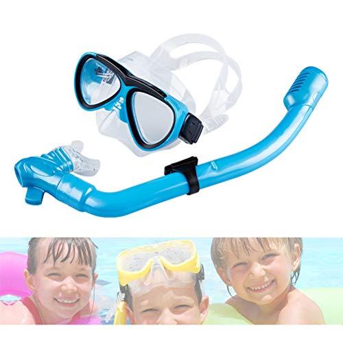 Fovely Trockenschnorchel Set, Professionelle Kinder Tauchmasken Brille Schnorchel Set Tauchen Silikon Maske Zum Schwimmen Tauchen Schnorcheln