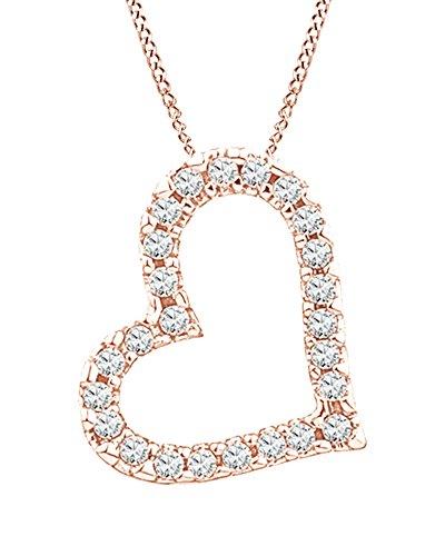 AFFY oro 375 oro rosa redonda IJ Diamond