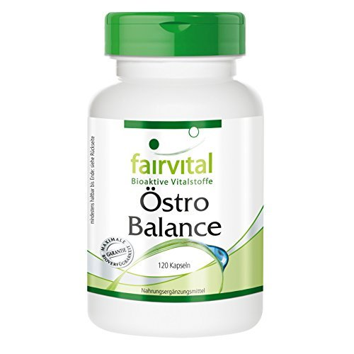 Östro Balance Cápsulas - Dosis elevada - 120 Cápsulas - isoflavonas de soja (genisteína, daidzeína, gliciteína) con vitamina E - Calidad Alemana