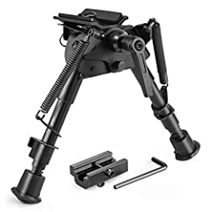 Twod Bipods have adjustable leg length (5 settings) with spring return and deploys quickly with the touch of a button. Attaches to virtually any firearm with a swing swivel stud or picatinny / weaver rail. Twod Bipods have adjusting swivel tilt-level...