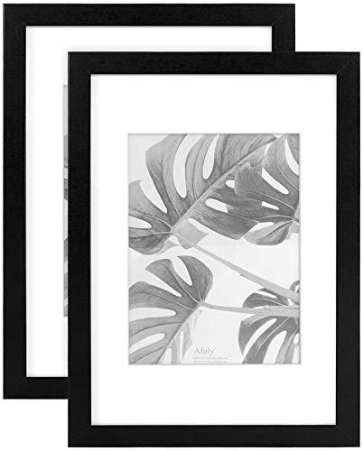 A4 fotolijst zwart 6x8 fotolijsten Wandmontage en tafelblad Galerij Modern Display Gift, Set van 2 foto lijstje fotolijsten hart fotolijst fotolij (Color : Black)