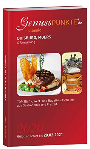 Gutscheinbuch GenussPUNKTE Duisburg, Moers & Umgebung 2020 - gültig ab sofort bis 31.01.2021