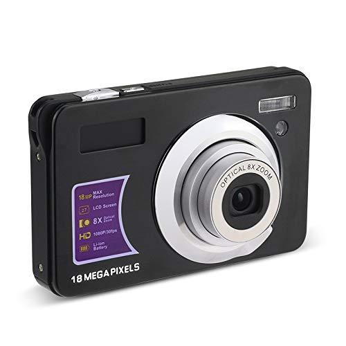 Kamenda - Videocamera 4K 18 MP 1080P HD, fotocamera digitale zoom 8X con anti-vibrazione con microfono a schermo girevole a 180° per regalo