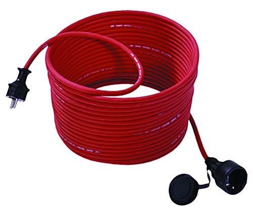 Bachmann 343.373 - Cable alargador para cortacésped (15 m, con tapa), color rojo