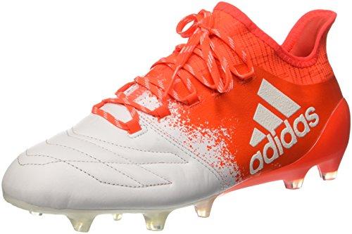 adidas Herren X 16.1 Fg Leather Fußballschuhe, Mehrfarbig FTWR White FTWR White Solar Red, 38 EU