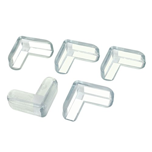 sourcing map Silicone Desk Table Corner Safety Cushion Pad Protector 5 Pcs Clear