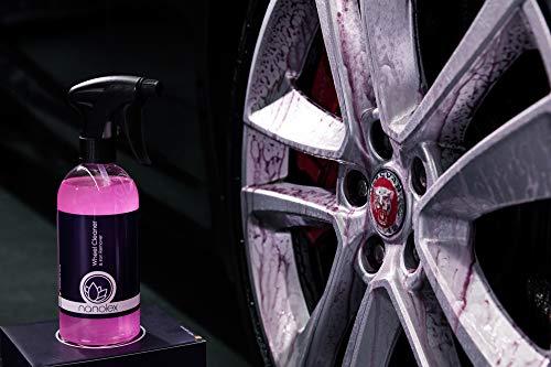 Nanolex Wheel Cleaner & Iron Remover, Felgenreiniger & Flugrostentferner, Felgenpflege für Stahlfelgen & Alufelgen, 750 ml