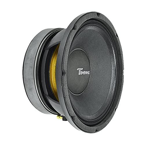 "Timpano TPT-MD10 PRO 10"" Midrange Speaker, 350 Watts RMS Power, 700 Watts Continuous Power,8 Ohm Loudspeaker 10 Inch Mid Range for Pro Car Audio (Single)"