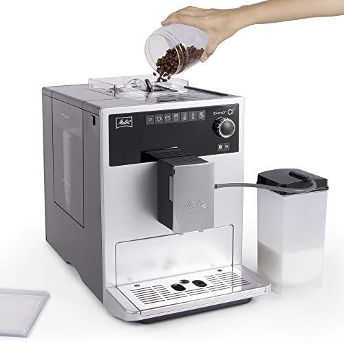 Auch Kaffeepulver ist für die Melitta Caffeo CI kein Problem.
