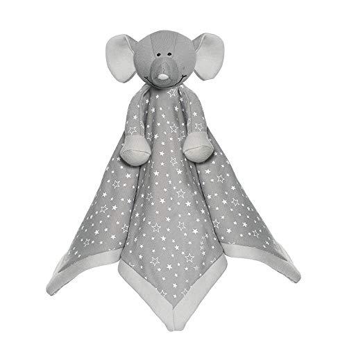 """Teddykompaniet 2798 Schmusetuch """"Diinglisar Organic"""" Baby Elefant, grau – Schmusedecke 35x35 cm – 100% ökologischer Baumwolle - Stofftier-Schnuffeltuch - Kuscheltier - super soft - ab Geburt"""