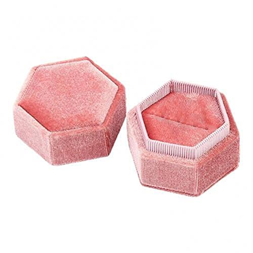 HOT Vintage Velvet Ring Box Earrings Jewelry Necklace Storage Box Hexagon Storage Box Gift Packaging Box Portable Wedding