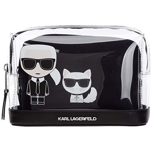 Karl Lagerfeld Damen K/Ikonik Transparent Pouch Schwarz