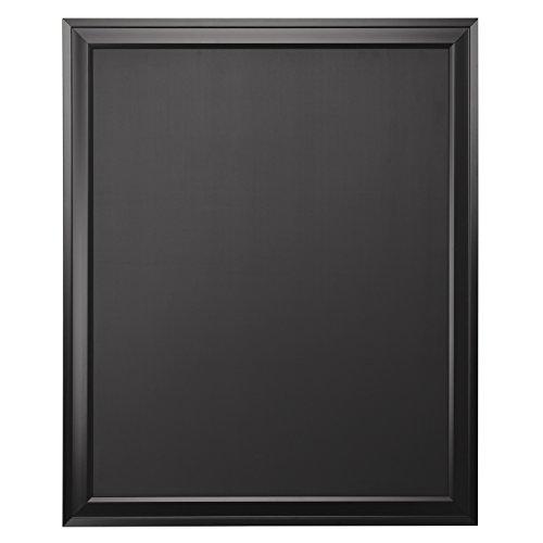 DesignOvation Bosc Wall Mounted Framed Magnetic Chalkboard, 27.5x33.5, Black