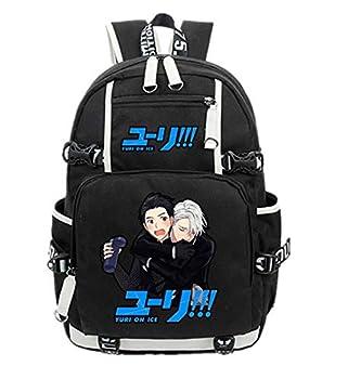 YOYOSHome Anime Yuri on Ice Backpack Cosplay Viktor Nikiforov Bookbag Daypack Laptop Bag School Bag